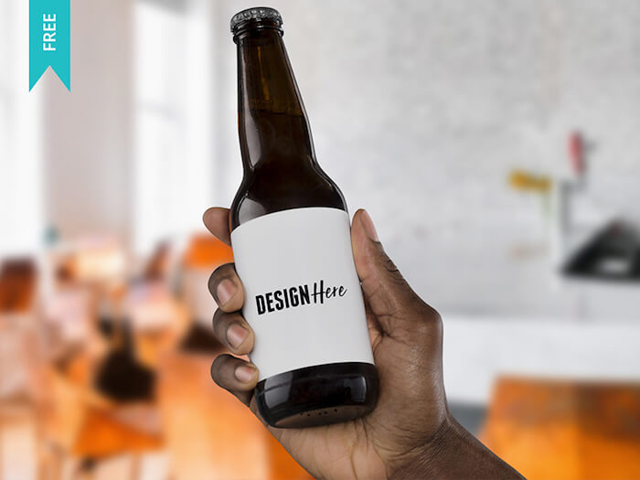 Beer Bottle Mockup - Free PSD Mockup