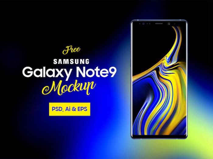 Free Samsung Galaxy Note 9 Mockup PSD