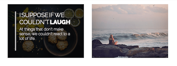 Image hover effect with caption
