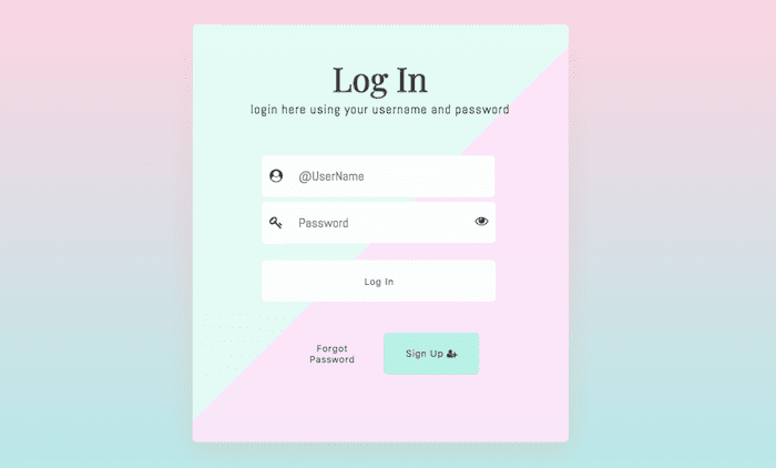 Log In Form CSS 2017