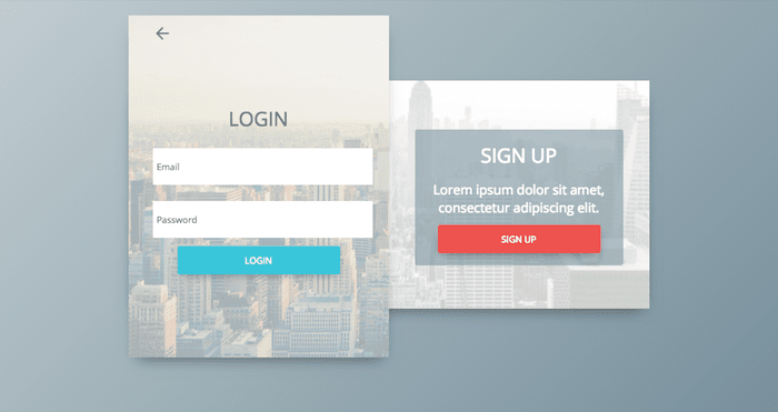 Login & Sign Up Form Concept