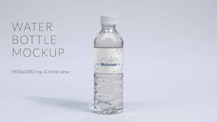 9 free plastic water bottle psd mockup