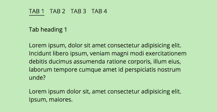Pure CSS tabs