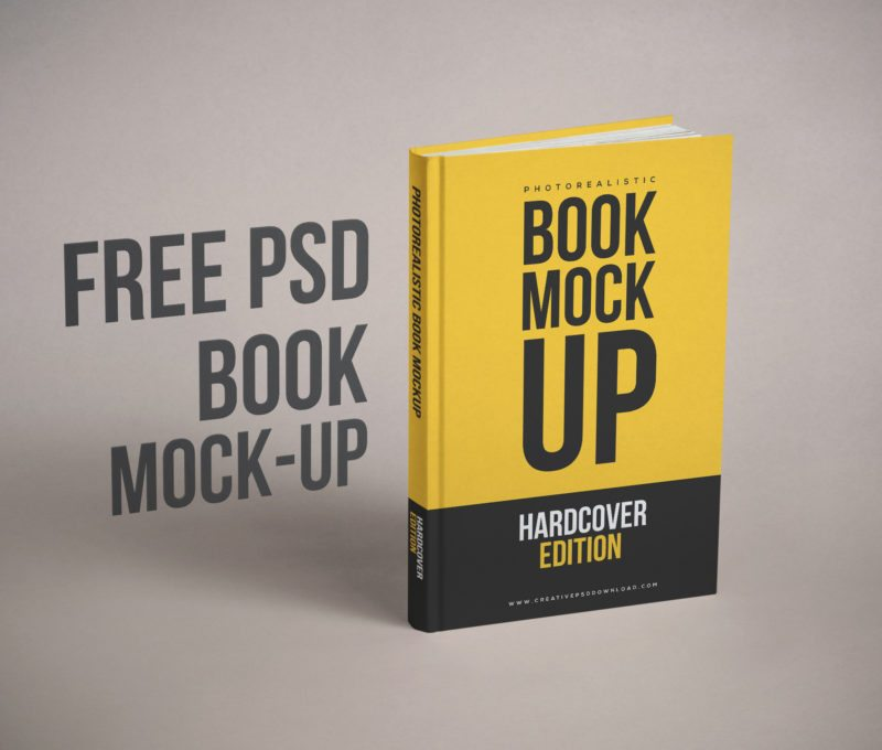 Realistic-Book Cover Free PSD Mockup