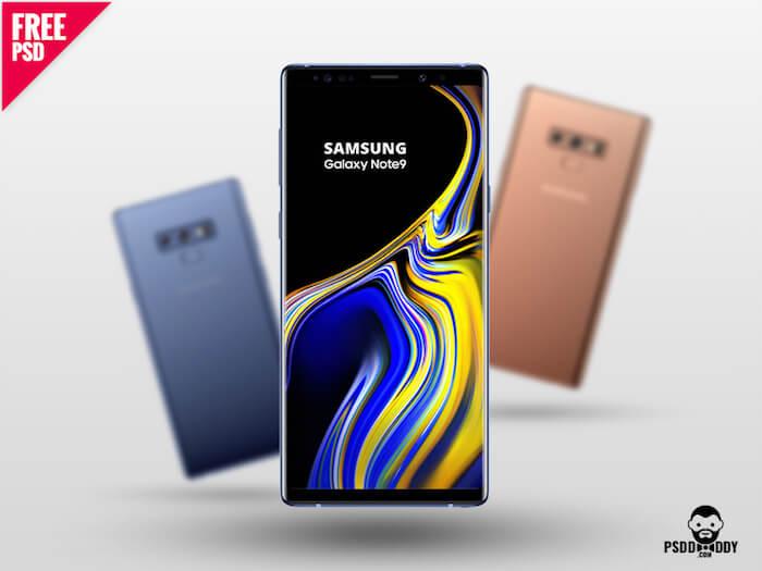 Samsung Galaxy Note 9 PSD Mockup