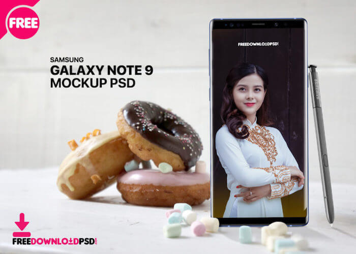 Samsung Note 9 Mockup Template