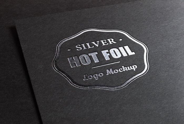 Hot foil logo mockup