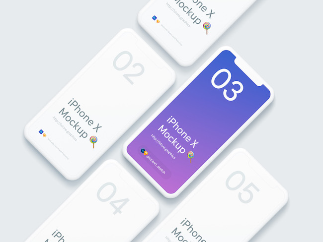 Simple+iPhone+X+Mockups