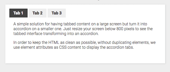 Verticle and Horizontal Tabs