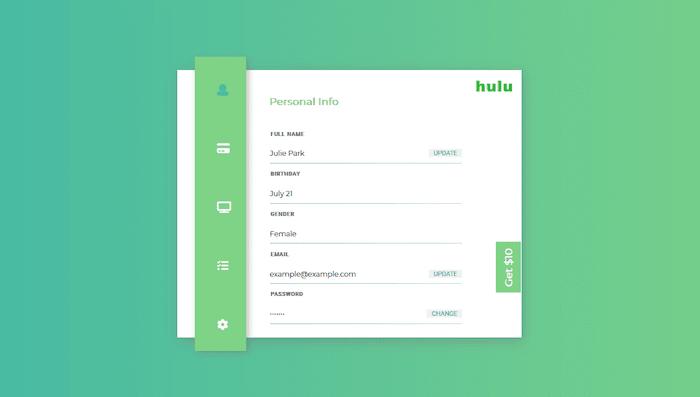 Hulu settings