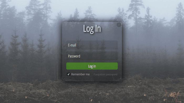 Login transperant