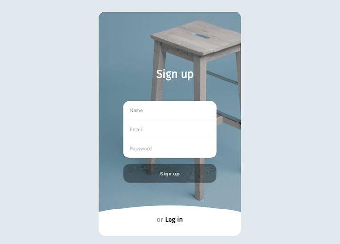 login/signup form animation