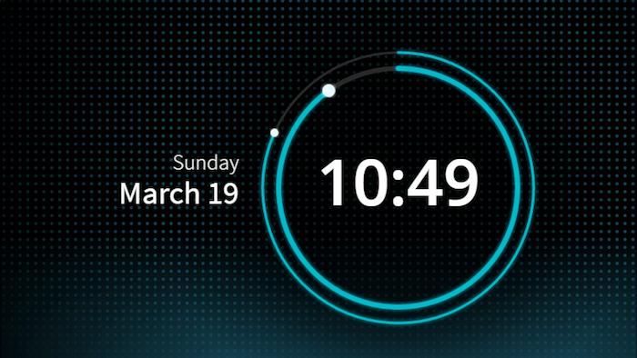 SVG based clock UI