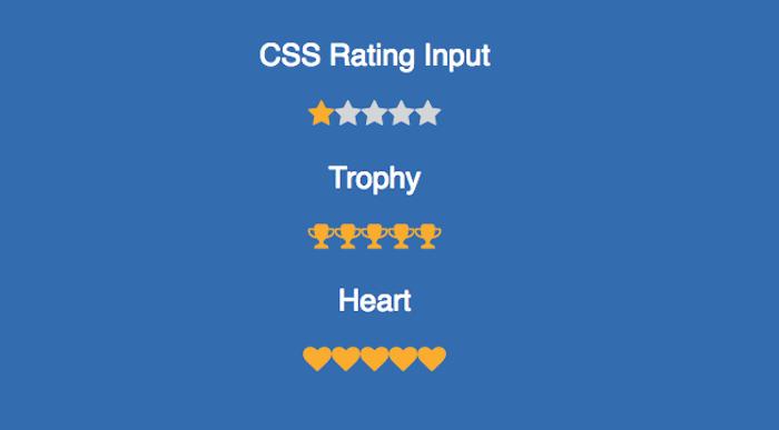 CSS Rating Input