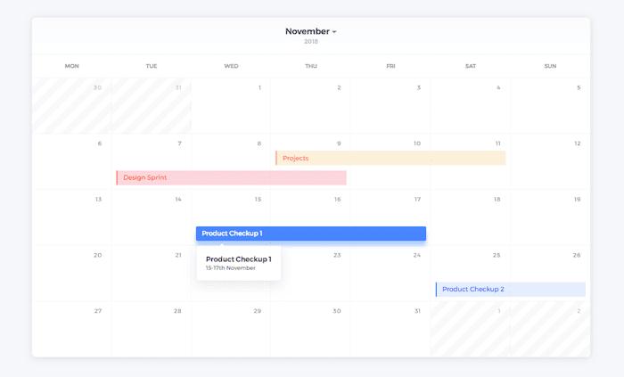 CSS grid calendar