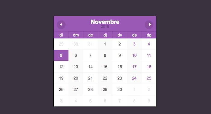 Minimalist calendar