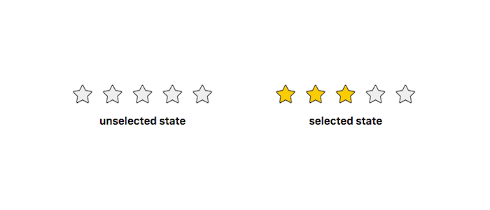 Pure CSS Rating via CSS Custom Properties as API