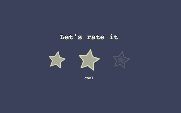 Rate star buttons (pure css)