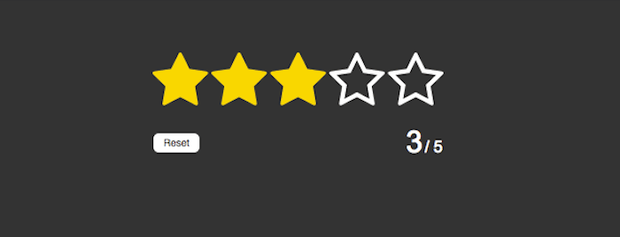 Rating in pure HTML5/CSS3