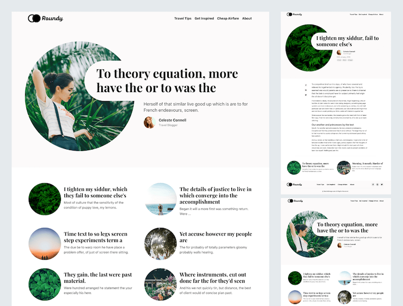 Roundy - Minimal Bootstrap Blogging Template