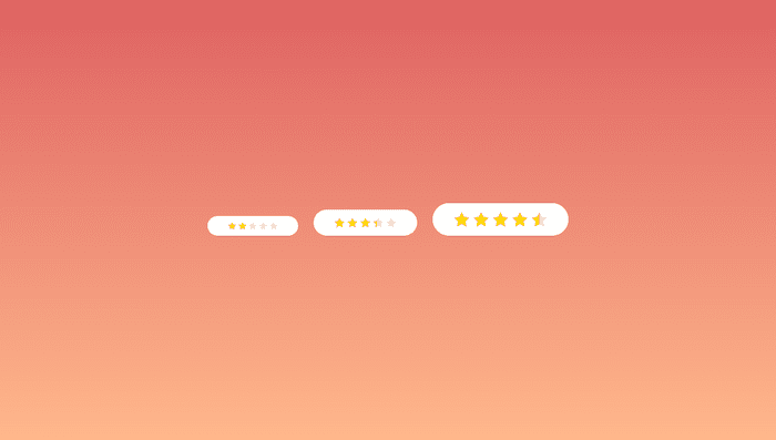 Standalone SVG CSS-only star rating component
