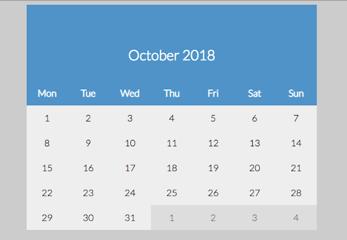 Vanilla JS calendar / starting by Monday
