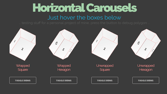 HTML and CSS horizontal carousels