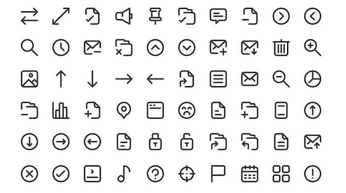 100 Free Adobe XD essential icons