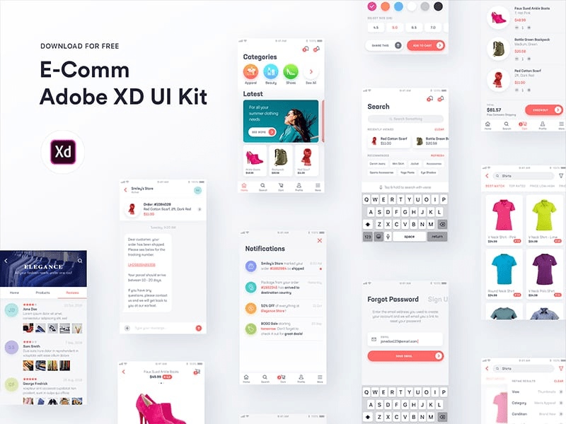 E-Comm Adobe XD UI Kit