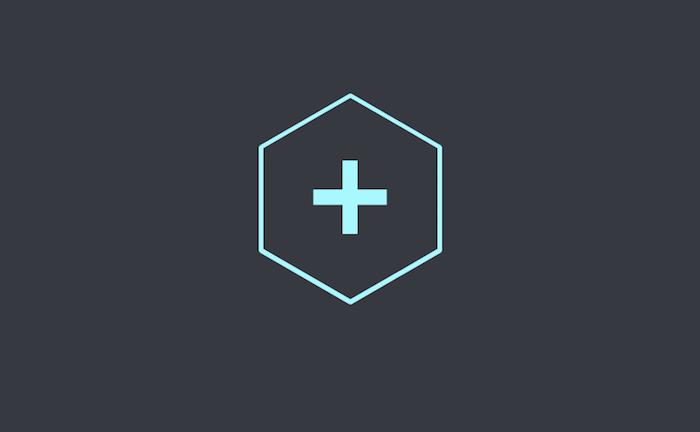 Hexagon plus Button