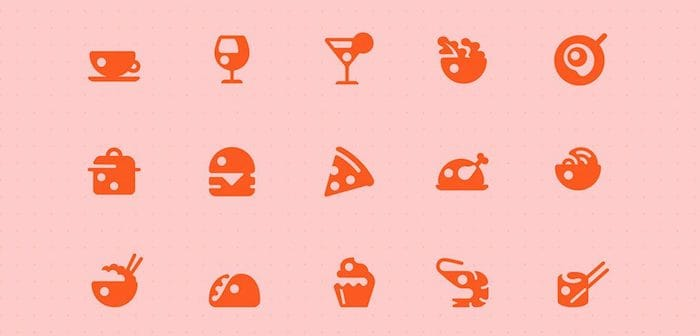 Restaurant XD icon set