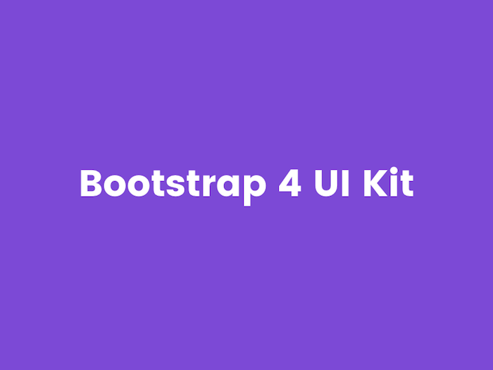 bootstrap 4 UI kit adobe xd