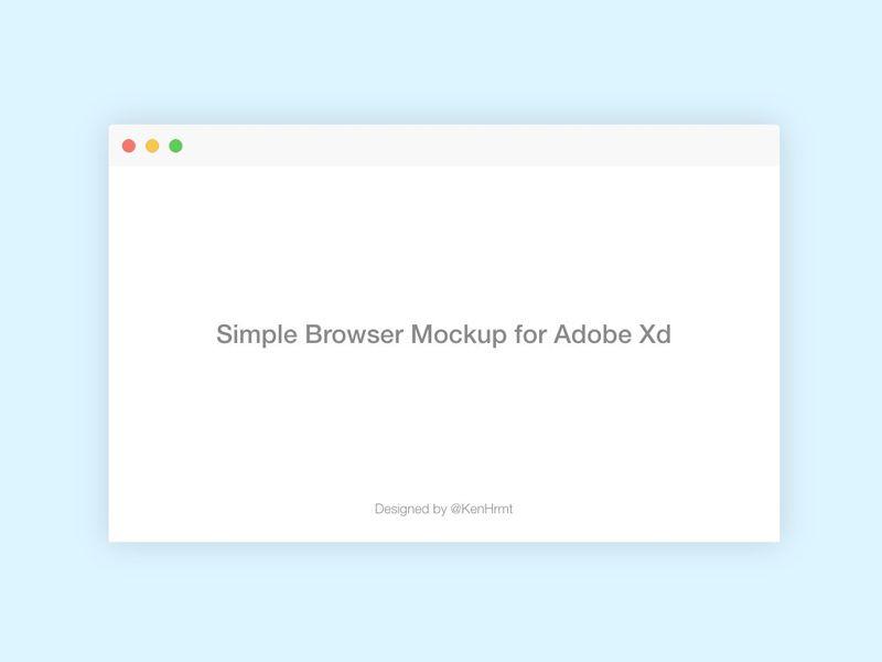 XD Browser Mockup