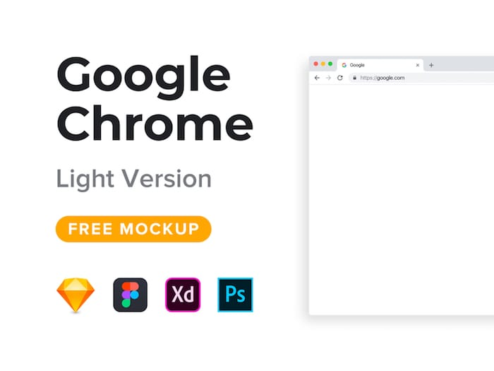 XD Google Chrome Mockup Freebie (Light Version)