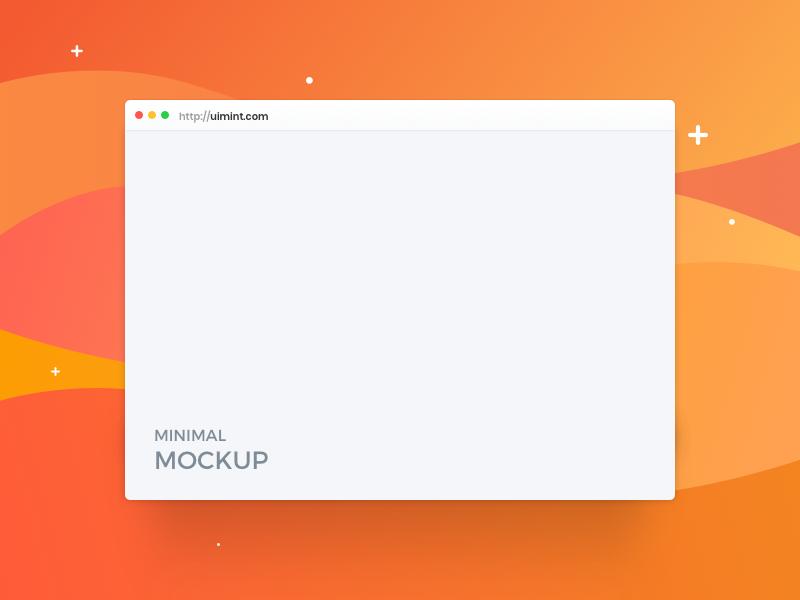 XD Minimal Browser Mockup