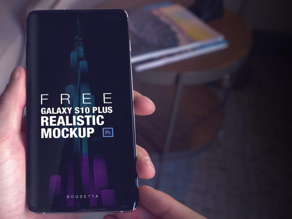 Galaxy S10 Plus Realistic Mockup (4K)