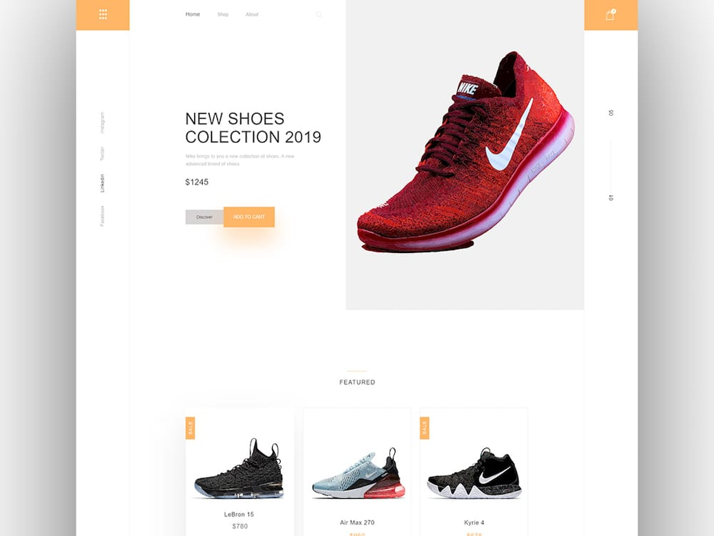 Nike Shoes Collection Shop UI kit