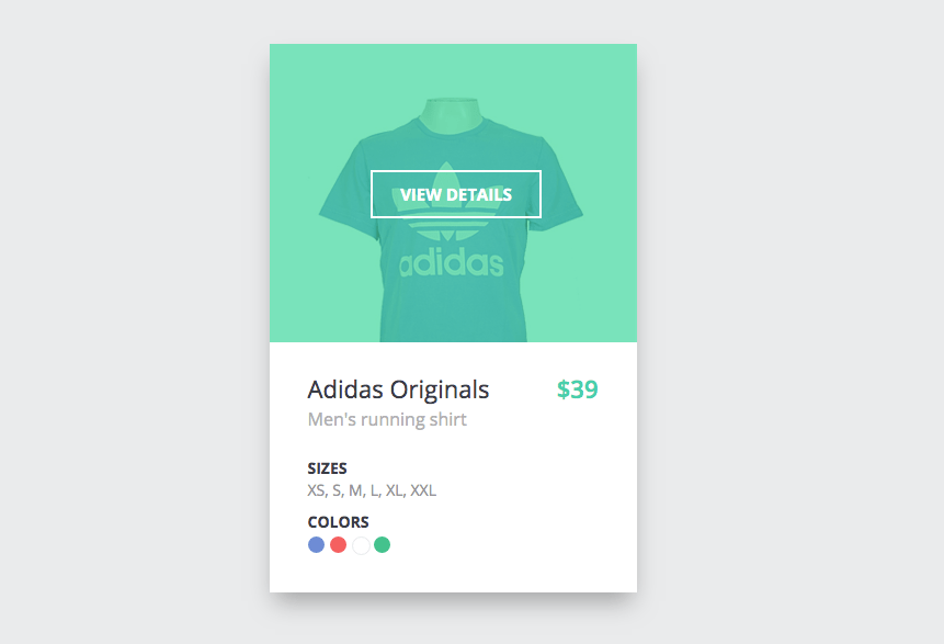 Product Card Hover Effect