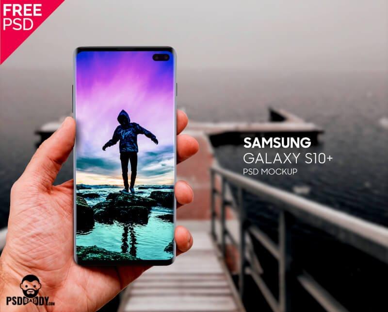 Samsung Galaxy S10+ In Hand