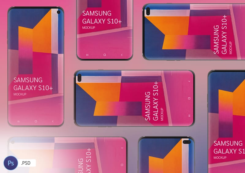 Samsung Galaxy S10, S10+ Free Mockup