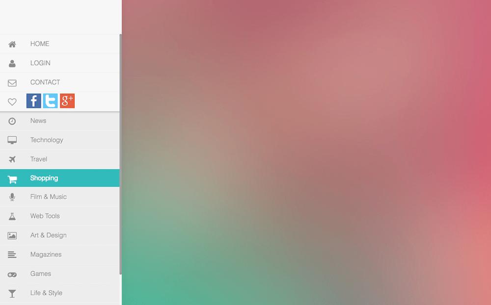 Side Sliding Menu CSS