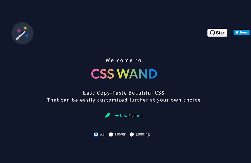 CSS WAND hover animations